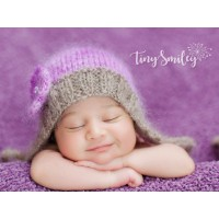 Mohair purple pixie baby bonnet, Knit newborn girl bonnet, Tinysmiley