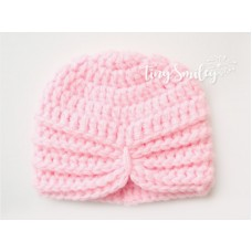 Pink baby girl crochet turban, Hat turban baby, Tinysmiley