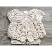 Baby newborn girl outfit, Baby girl crochet set, Crochet girl hat and pants set