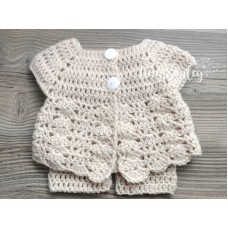Baby newborn girl outfit, Baby girl crochet set, Girl hat and pants set