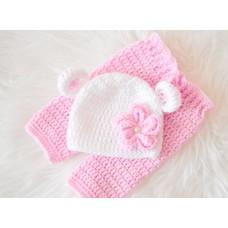 Twin newborn bear baby sets hospital outfit take home crochet set