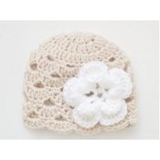 Crochet newborn girl hats, Newborn girl beanie, Crochet hat flower