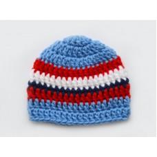 Newborn baby boy hat, crochet baby boy hat