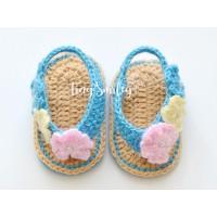 Crochet baby girl sandals, Newborn baby sandals, Crochet girl sandals