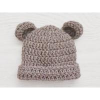 Brown baby bear hat, Newborn bear hat, Bear crochet hat, Baby hat bear ears