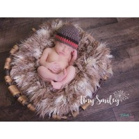Crochet baby boy hat, Brown striped  boy hat, Newborn crochet hat, Hats for boy, Baby boy outfit, Newborn boy hat, Winter baby boy hat, Wool boy hats