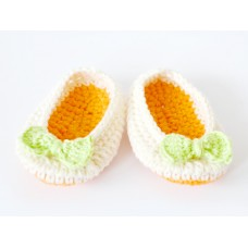 Crochet baby booties newborn, Baby boots orange, Girl ballerina booties