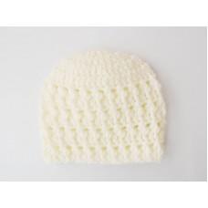 Crochet baby boy beanies, Cream newborn baby boy hat, Textured hats