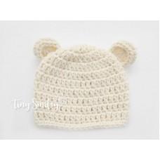 Bear hat, Ears bear ecru hat girl boy, Baby bear beanies crochet