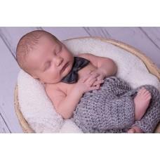 Newborn crochet baby pants, Gray baby pants, Newborn mohair outfit