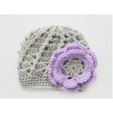 Gray girls crochet hats, Baby girl hat for newborn, Crochet newborn outfits