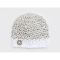 Hospital baby boy caps,  Striped boy hat, Gray crochet newborn boy outfit