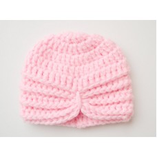 Pink baby girl crochet turban, Hat turban baby, Tinysmiley
