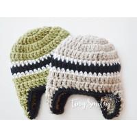Earflap baby boy twin hats, Wool twin beanies, Twin crochet outfits