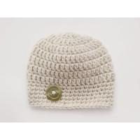 Wool newborn beige hat, Baby boy hat, Winter newborn hat