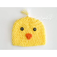 Crochet chick baby hat, Yellow chick hat, Baby hats chick, Crochet animal hats kids