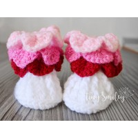 Crochet baby boots crocodile stitch, Colorful crochet baby  girl boots