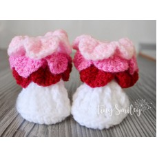 Colorful Crochet Baby Boots Crocodile Stitch Booties