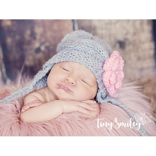 4c145bc6eeb Earflap Cable Knit Baby Girl Hat