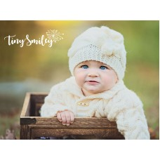 Cream Cable Knit Baby Girl Hat