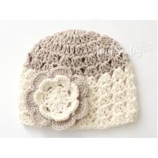 Cotton baby cap, Newborn cotton hat, Baby hats cotton, Crochet cotton hat