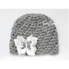 Crochet Baby Girl Hat Coming Home Outfit