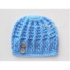 Blue Baby Boy Hat Soft Newborn Hat