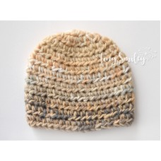 Beige Baby Boy Hat Newborn Boy Hat