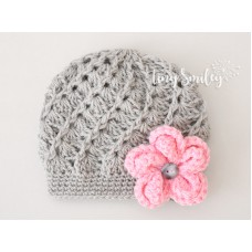 Gray Baby Hat Newborn Girl Outfit