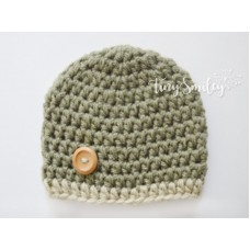 Olive Green Baby Boy Hat