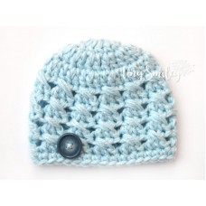 Light Blue Baby Boy Hat Newborn Hat