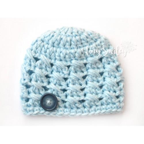 Light Blue Baby Boy Hat Newborn Hat ab59d5cacbb