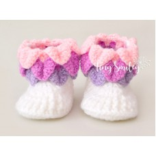 Crocodile Stitch Baby Boots