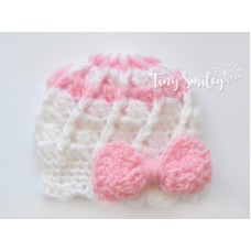 Bow Crochet Baby Girl Hat