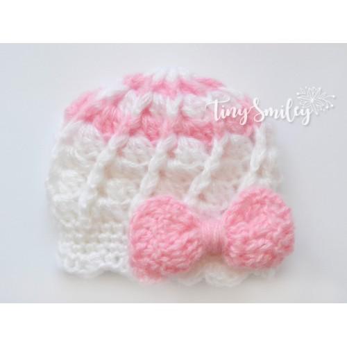 Bow Crochet Baby Girl Hat