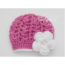 Raspberry Baby Girl Hat