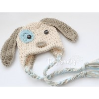 Puppy baby hat earflap