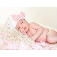Bow Mohair Baby Girl Hat