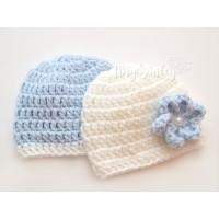 Twin baby crochet hats, Hospital outfit, Crochet twin hats, Newborn hats twins