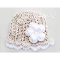 Lace newborn crochet baby hat, Baby girl outfit, Baby girl lace hat