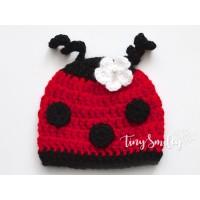Ladybug Baby Hat, Photo prop