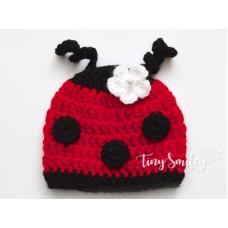 Ladybug Baby Hat Photo Prop