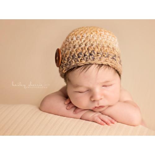 beige baby boy hat newborn boy hat