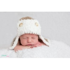 Aviator Baby Hat Newborn Photo Prop