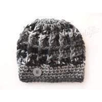 Wool baby hat, Crochet baby hat, Gray newborn crochet baby hat, Crochet newborn beanie, Baby boy beanies, Winter boy hats
