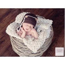 Aviator Baby Hat Brown Earflap Hat