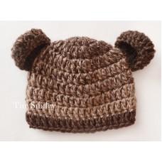 Brown Baby Bear Hat