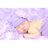 Lavender cable baby girl hat, Lilac knit baby beanie, Tinysmiley