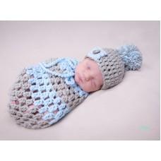 Newborn baby cocoon crochet, Baby outfit cocoon, Cocoon newborn