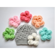 Girl Hat with Interchangeable Flowers